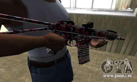 M4 Rouge Camo pour GTA San Andreas