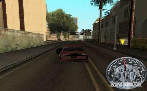 De fer de l'indicateur de vitesse pour GTA San Andreas deuxième écran