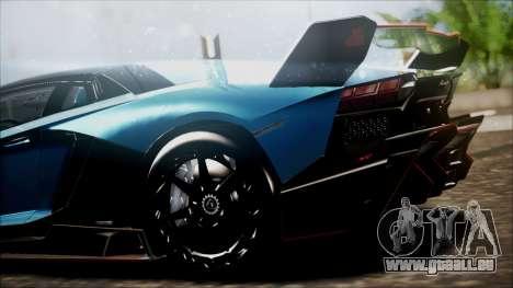 Lamborghini Veneno LP700-4 AVSM pour GTA San Andreas sur la vue arrière gauche