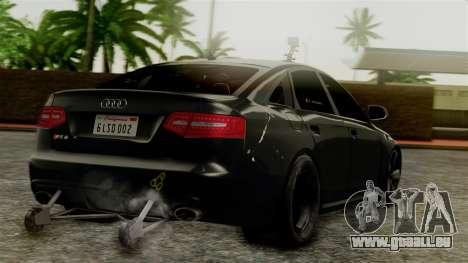 Audi RS6 Civil Drag Version für GTA San Andreas linke Ansicht
