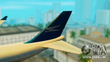 Boeing 747 Argentina Airlines für GTA San Andreas zurück linke Ansicht