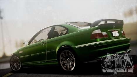 BMW M3 GTR Street Edition pour GTA San Andreas vue de côté