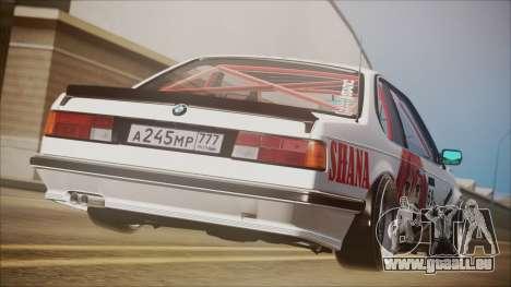 BMW E24 Shakugan No Shana Itasha pour GTA San Andreas laissé vue