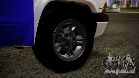 Dodge Dakota Iraqi Police für GTA San Andreas zurück linke Ansicht