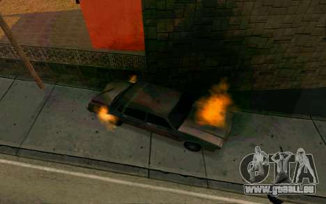 Burning car mod from GTA 4 pour GTA San Andreas