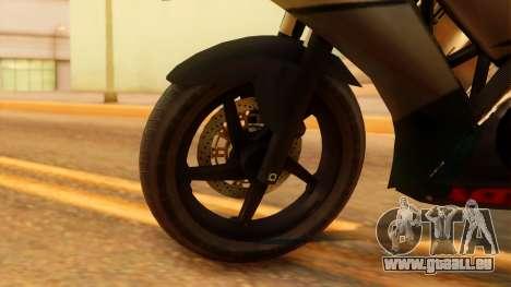 Honda CBR150R K45 pour GTA San Andreas sur la vue arrière gauche