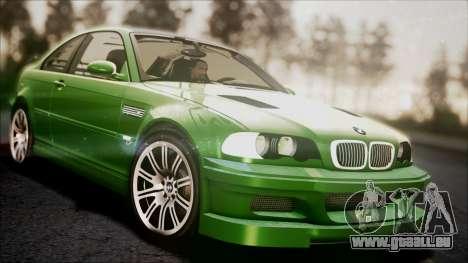 BMW M3 GTR Street Edition pour GTA San Andreas vue de dessous
