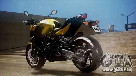 Honda CB650F Amarela pour GTA San Andreas laissé vue