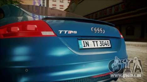 Audi TT RS 2011 v3 für GTA San Andreas Rückansicht