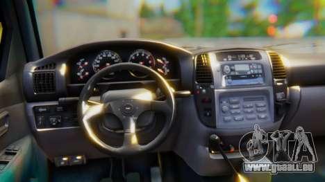 Toyota Land Cruiser 105 für GTA San Andreas rechten Ansicht