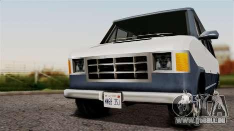 El Passa Van pour GTA San Andreas sur la vue arrière gauche