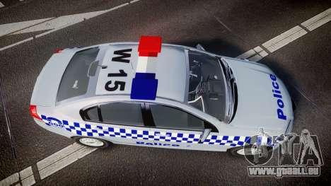 Holden Commodore Omega Victoria Police [ELS] für GTA 4 rechte Ansicht