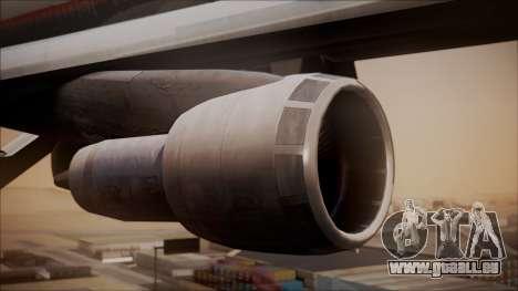 Boeing 747-200 Malaysia Airlines für GTA San Andreas rechten Ansicht
