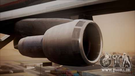 Boeing 747-200 Malaysia Airlines pour GTA San Andreas vue de droite