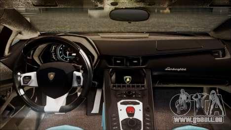 Lamborghini Veneno LP700-4 AVSM pour GTA San Andreas vue arrière