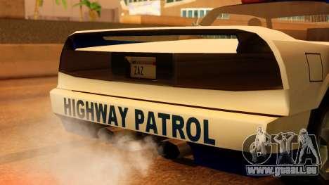 Police Infernus für GTA San Andreas Rückansicht