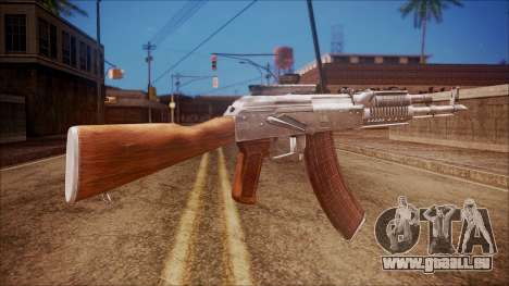 AK-47 v4 from Battlefield Hardline für GTA San Andreas zweiten Screenshot