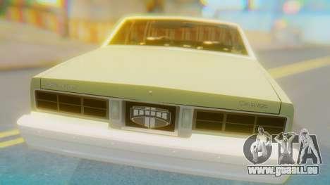 Chevrolet Caprice pour GTA San Andreas vue arrière