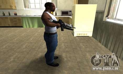 Modern Black M4 pour GTA San Andreas troisième écran