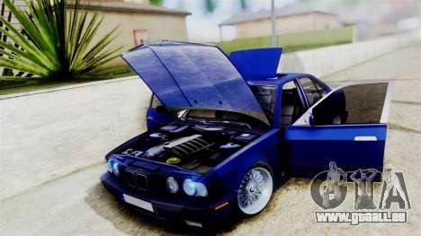 BMW M5 E34 pour GTA San Andreas vue arrière