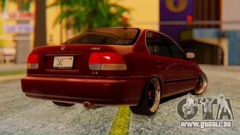 Honda Civic JnR Tuning pour GTA San Andreas laissé vue