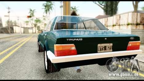Ford Taunus 2.3 pour GTA San Andreas laissé vue
