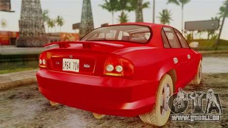 Zomkah from Saints Row 2 pour GTA San Andreas sur la vue arrière gauche