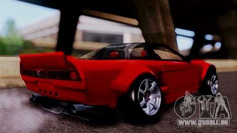 Honda NSX pour GTA San Andreas sur la vue arrière gauche
