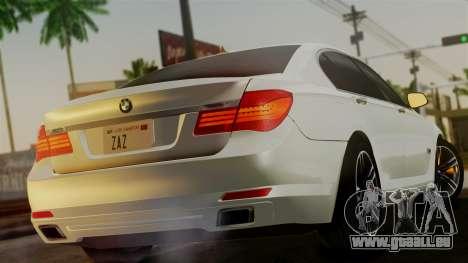BMW 7 Series F02 2013 pour GTA San Andreas laissé vue
