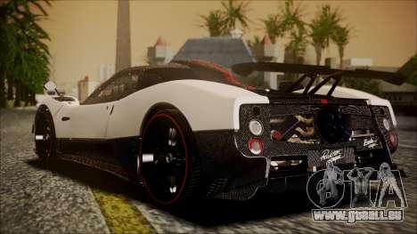 Pagani Zonda Cinque 2009 Autovista für GTA San Andreas linke Ansicht