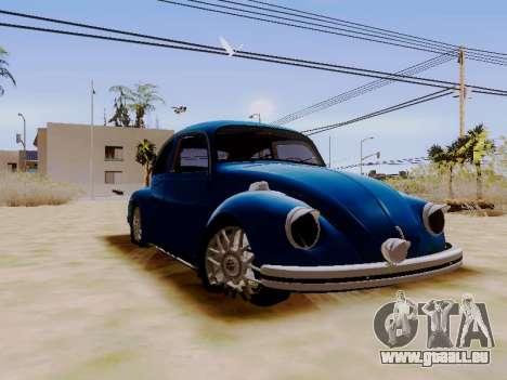 Volkswagen Beetle 1980 Stanced v1 für GTA San Andreas rechten Ansicht