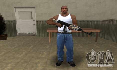 Cool Black AK-47 pour GTA San Andreas troisième écran