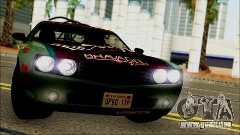 GTA 5 Bravado Gauntlet Redwood HQLM pour GTA San Andreas sur la vue arrière gauche