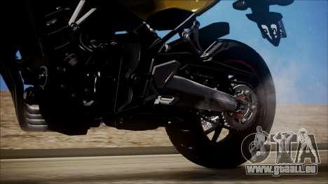 Honda CB650F Amarela pour GTA San Andreas vue arrière