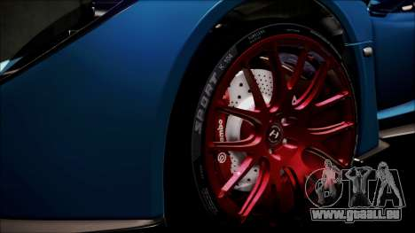 Hennessey Venom GT 2012 U.S.A American pour GTA San Andreas vue de dessous