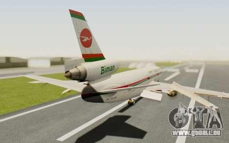 DC-10-30 Biman Bangladesh Airlines für GTA San Andreas linke Ansicht