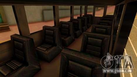 Prison Bus pour GTA San Andreas vue de droite