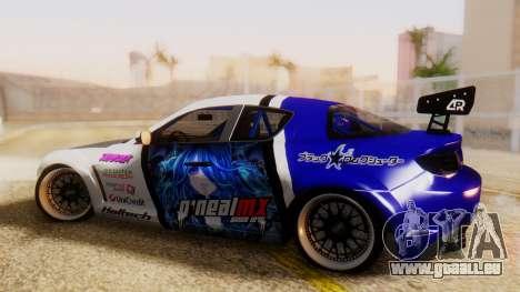 Mazda RX-8 Tuned Black Rock Shooter Itasha pour GTA San Andreas laissé vue