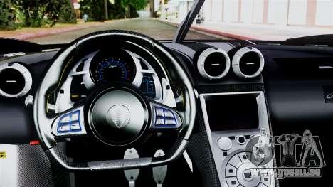NFS Rivals Koenigsegg Agera R v2.0 für GTA San Andreas rechten Ansicht