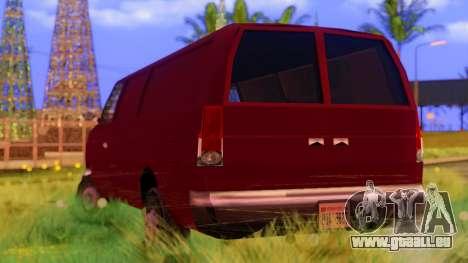 Ambush Van für GTA San Andreas zurück linke Ansicht