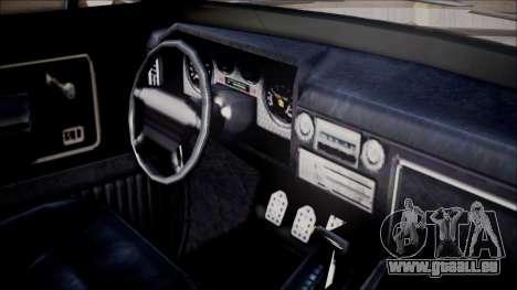 GTA 5 Vapid Slamvan Pickup pour GTA San Andreas vue de droite