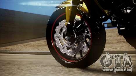 Honda CB650F Amarela pour GTA San Andreas vue de droite