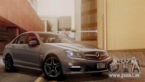 Mercedes-Benz C63 AMG 2015 Edition One pour GTA San Andreas vue de dessous