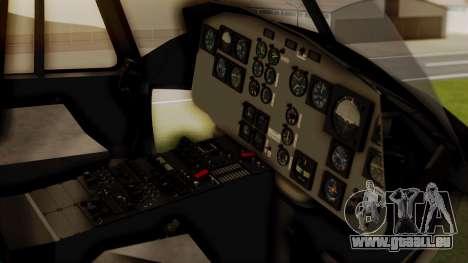 Bell UH-1 Paraguay für GTA San Andreas Rückansicht