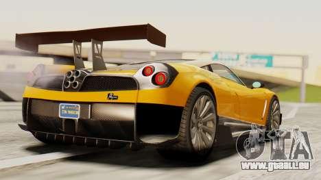 Pegassi Osyra Full Extras pour GTA San Andreas laissé vue