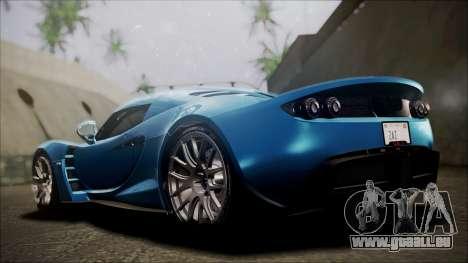 Hennessey Venom GT 2012 U.S.A American pour GTA San Andreas sur la vue arrière gauche