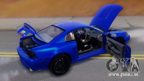 Ford Mustang 1999 Clean pour GTA San Andreas moteur