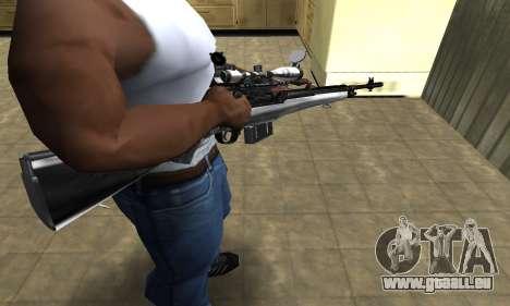 Silver Sniper Rifle pour GTA San Andreas