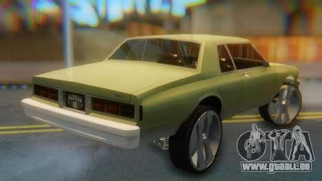 Chevrolet Caprice pour GTA San Andreas laissé vue