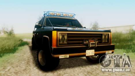 FBI Rancher Offroad pour GTA San Andreas vue de droite